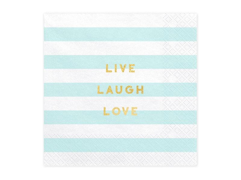 Serviette en papier Live Laugh Love (Lot de 20)