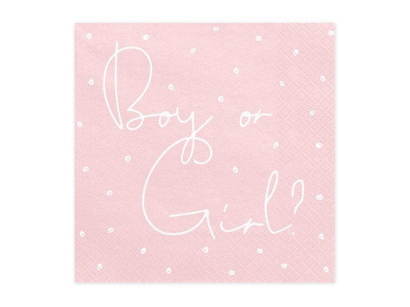 Serviette en papier Boy or Girl (Lot de 20)