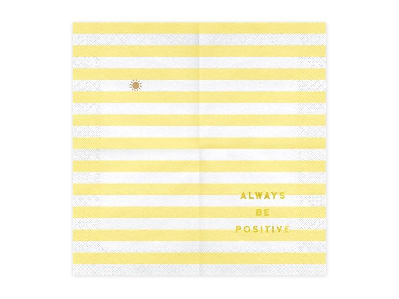 Serviette en papier Always Be Positive (Lot de 20)