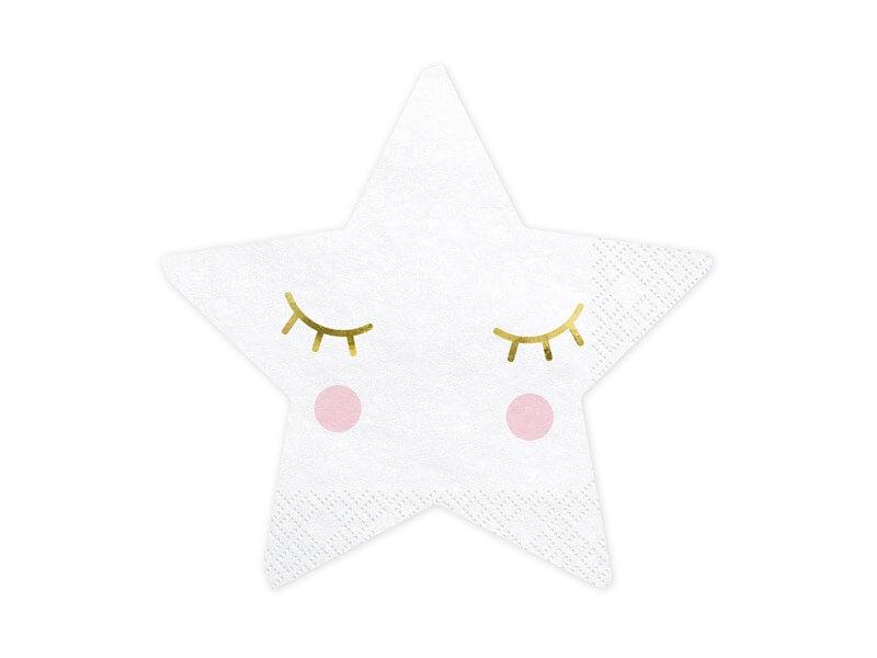 Serviette en papier forme étoile (Lot de 20)