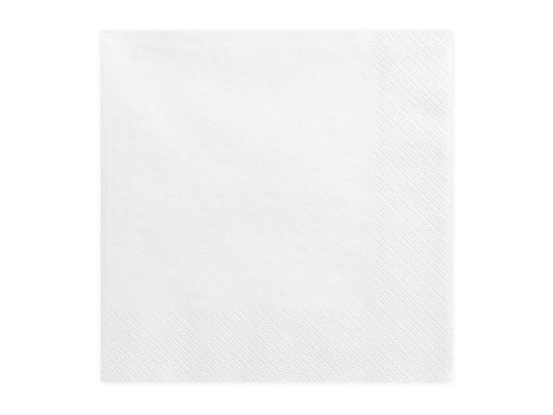 Serviette en papier blanche (Lot de 20)