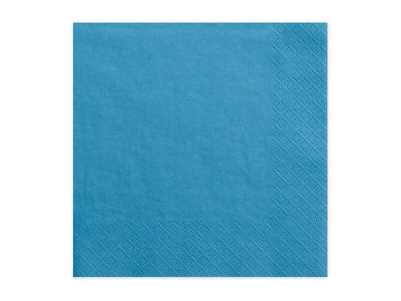 Serviette en papier bleue (Lot de 20)