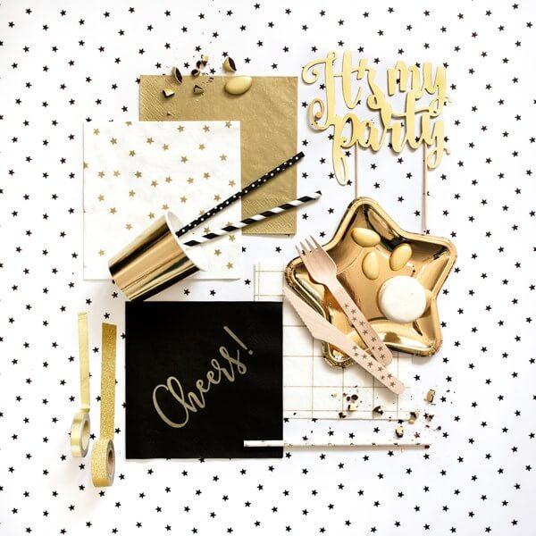 Serviette en papier Or/Gold (Lot de 20)