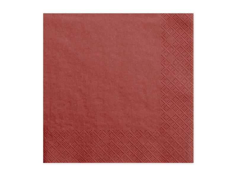 Serviette en papier rouge (Lot de 20)