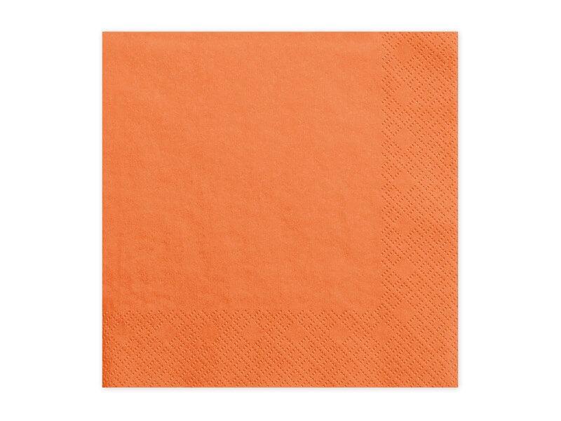 Serviette en papier orange (Lot de 20)