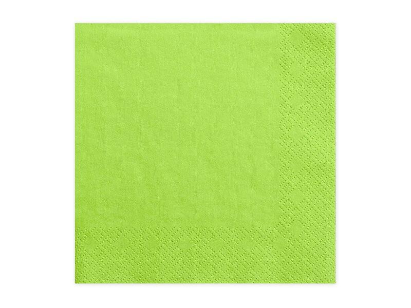 Serviette en papier vert clair (Lot de 20)