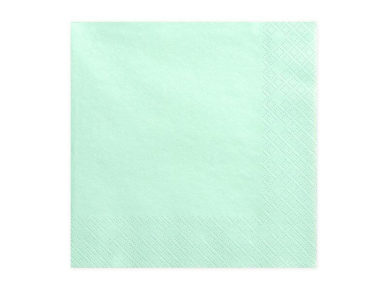 Serviette en papier couleur menthe (Lot de 20)