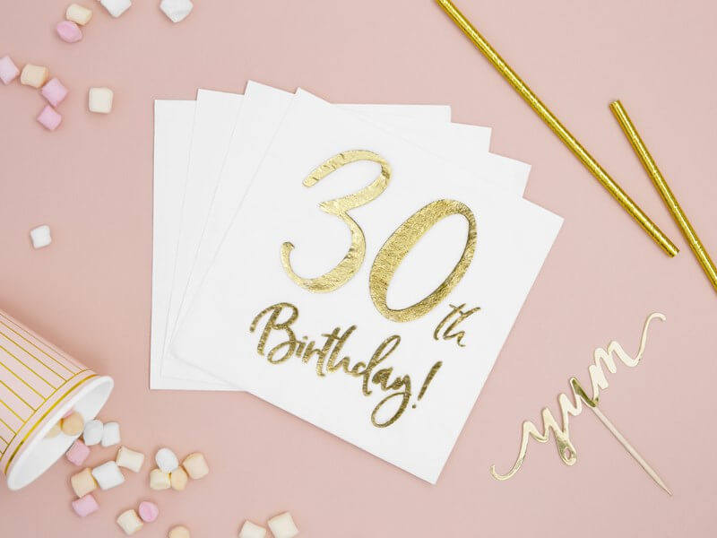 Serviette en papier 30th Birthday (Lot de 20)