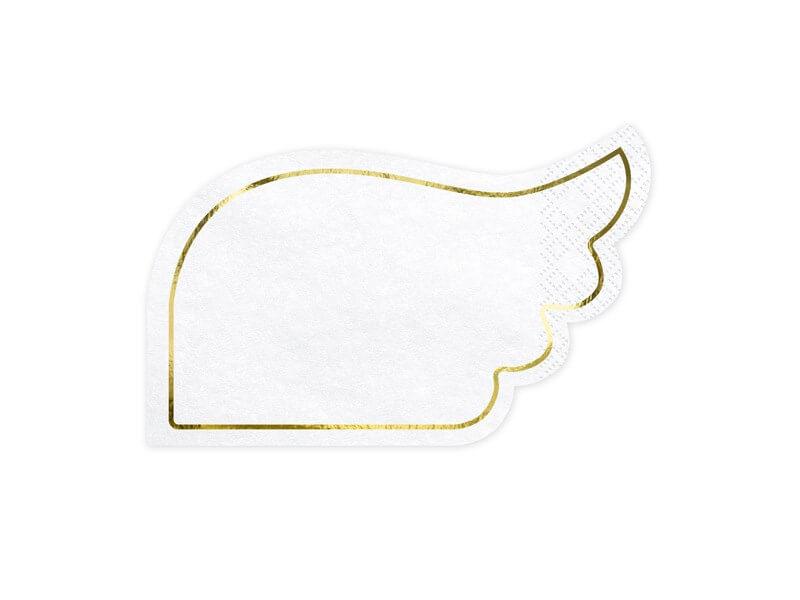 Serviette en papier forme d'aile (Lot de 20)