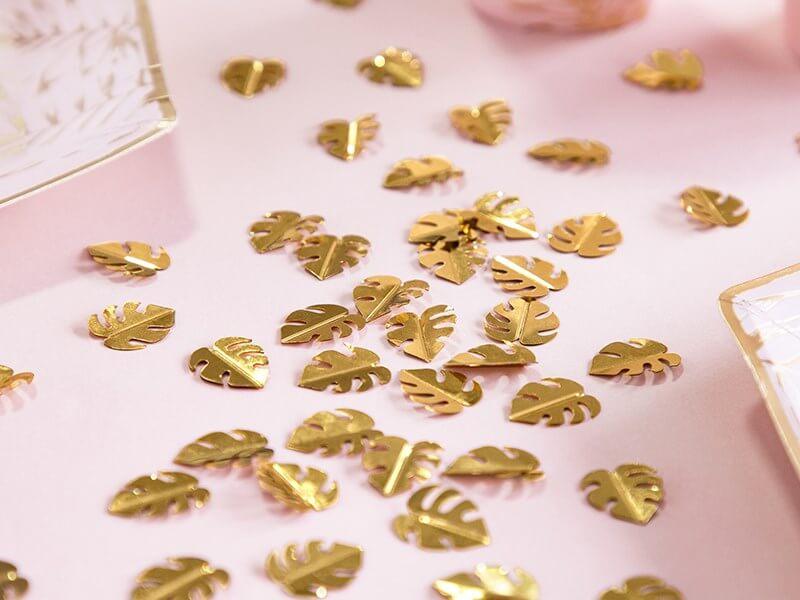 Confettis forme feuille couleur Or (15gr)