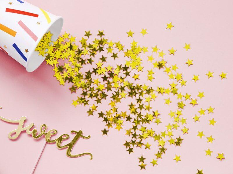 Confettis étoile or (30gr)