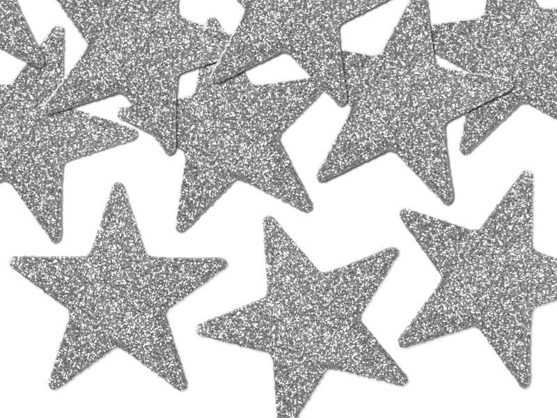 Décoration de table étoile argent (Lot de 8)