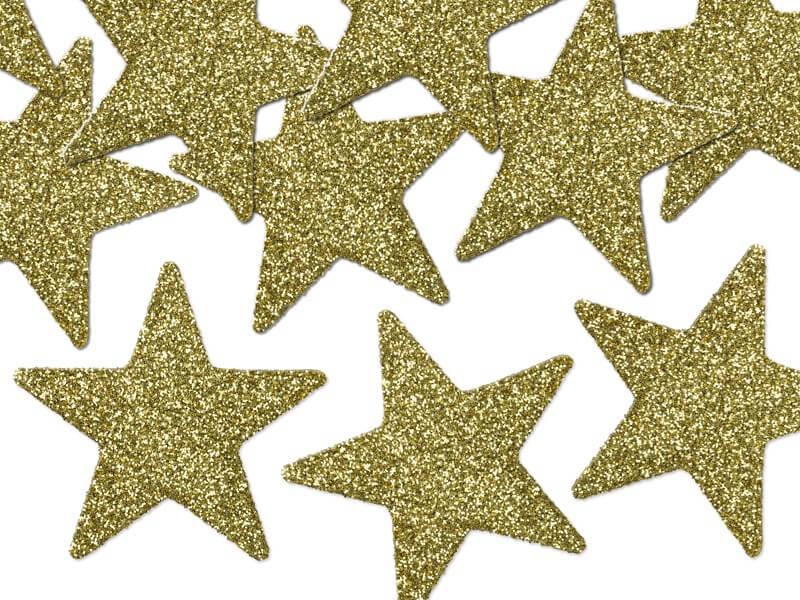 Décoration de table étoile or (Lot de 8)