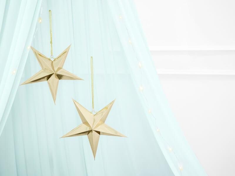 Étoile en papier OR 45cm