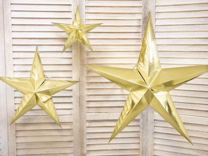 Étoile en papier OR 30cm