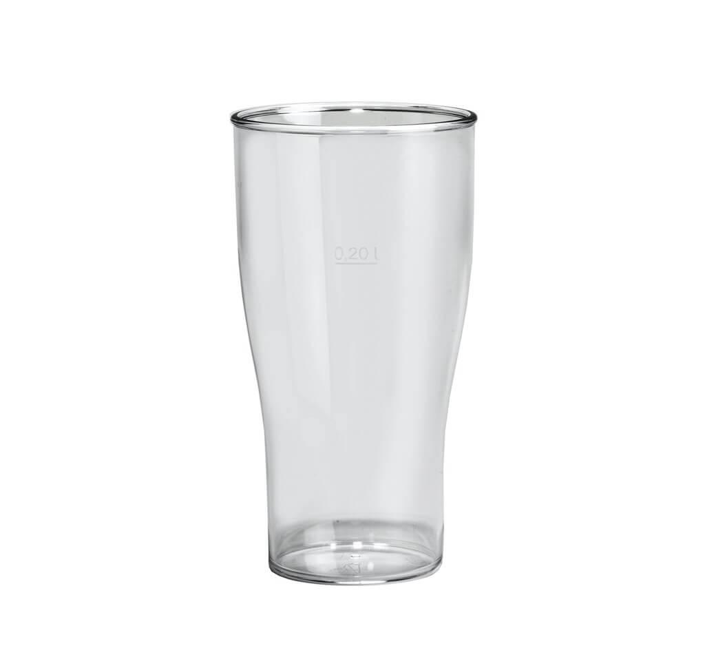 Verre à bière transparent incassable 25cl