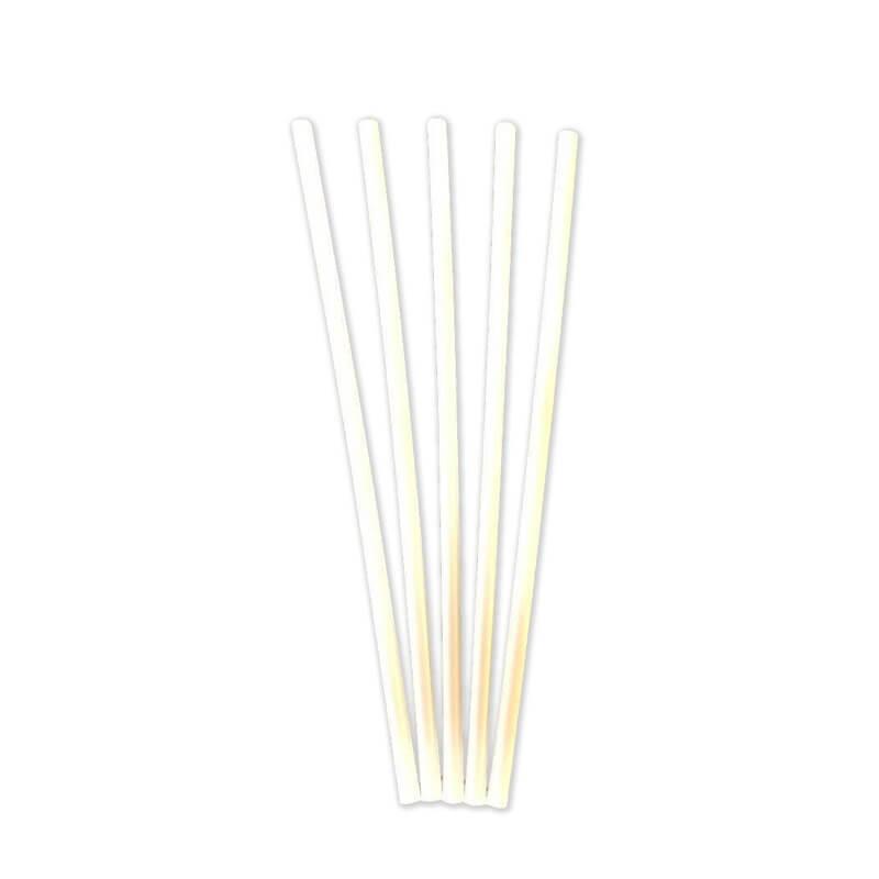 Paille Biodégradable PLA blanche 20,5cm / ø 6mm (500pcs)
