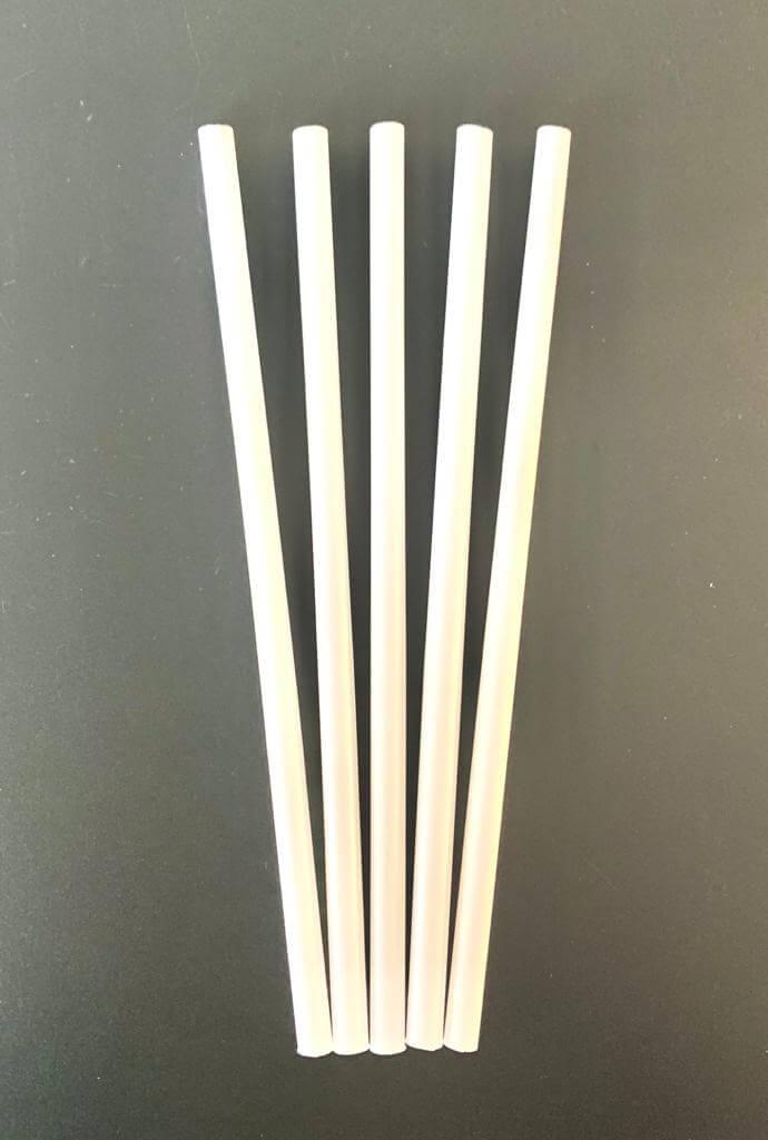 Paille Smoothie Bio PLA blanche 23cm / ø 9mm (200pcs)