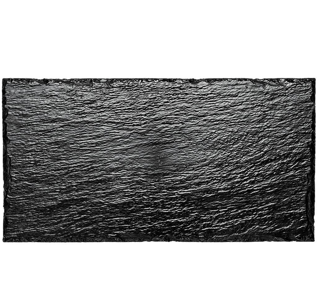 Assiette rectangulaire imitation ardoise 30x15,8cm x10p.
