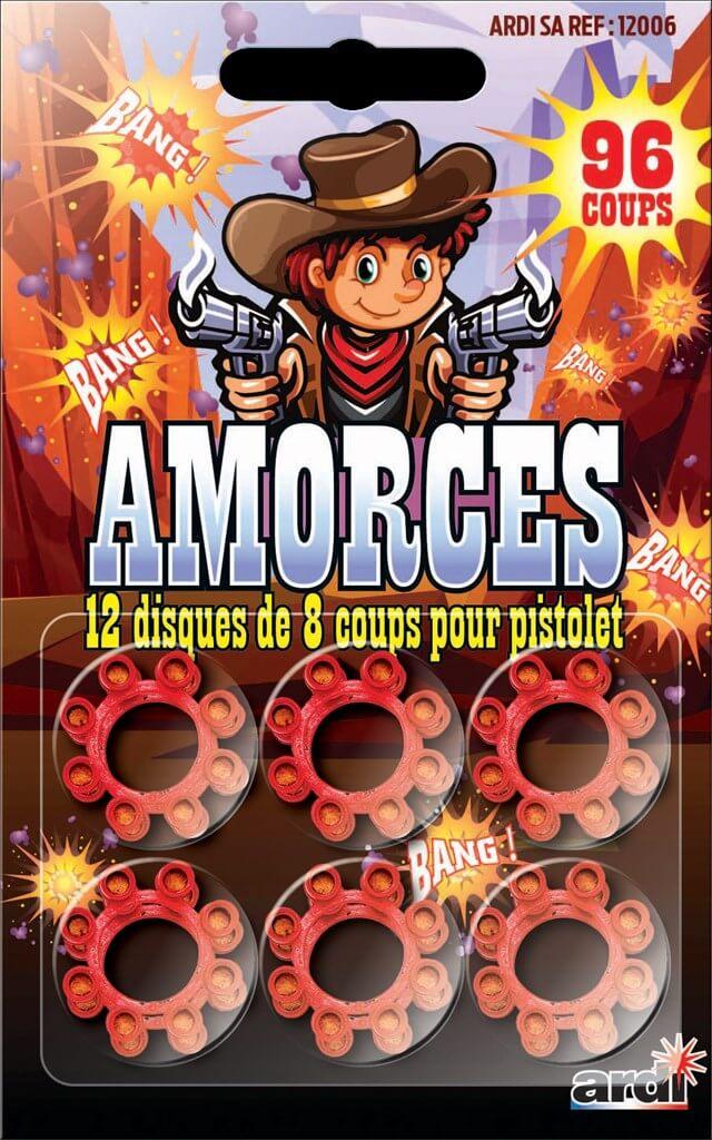 Amorces disque 8 coups pour pistolet