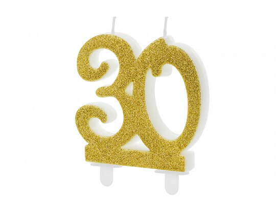 Bougie Anniversaire or 30 ans