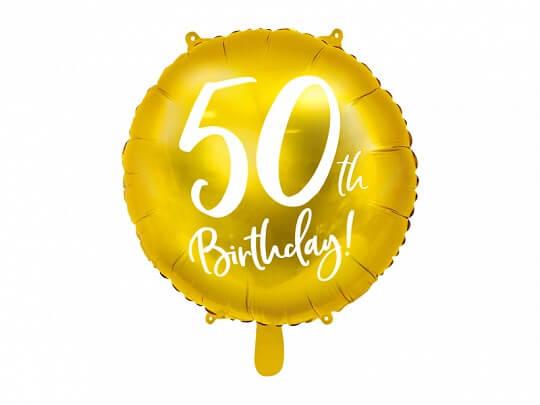 Ballon 50th Birthday Or ø45cm