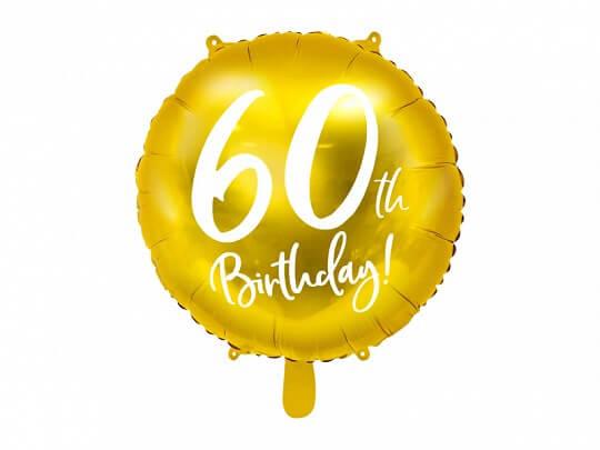 Ballon 60th Birthday Or ø45cm