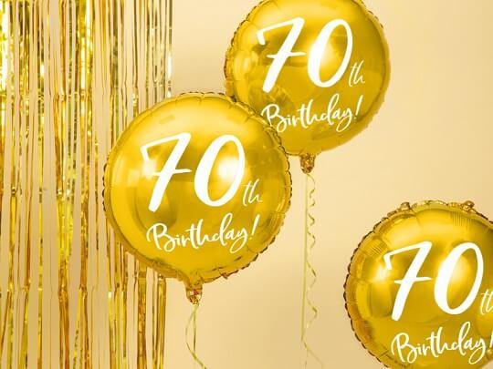 Ballon 70th Birthday Or ø45cm