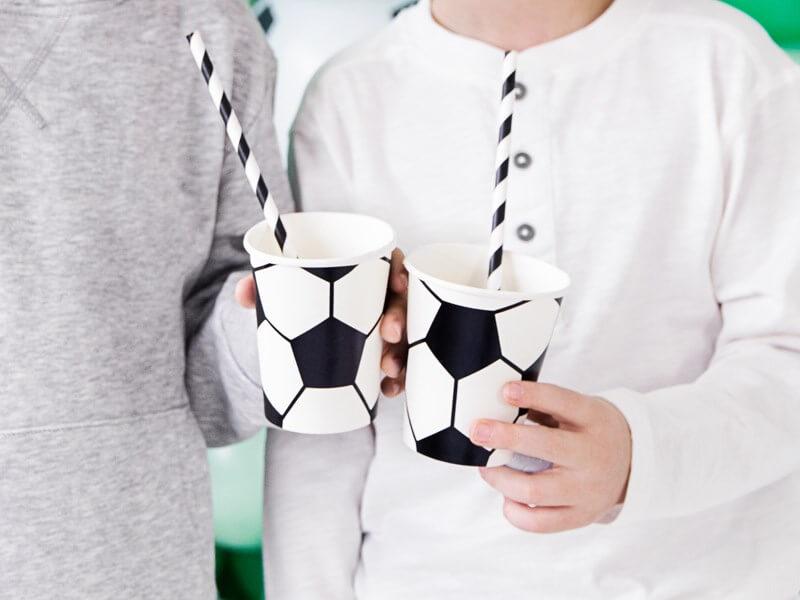 Gobelet en papier motif ballon de foot (Lot de 6)
