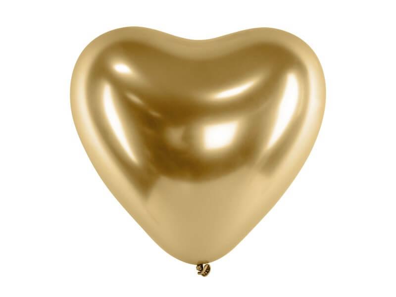 Lot de 50 ballons Coeur Or métallique