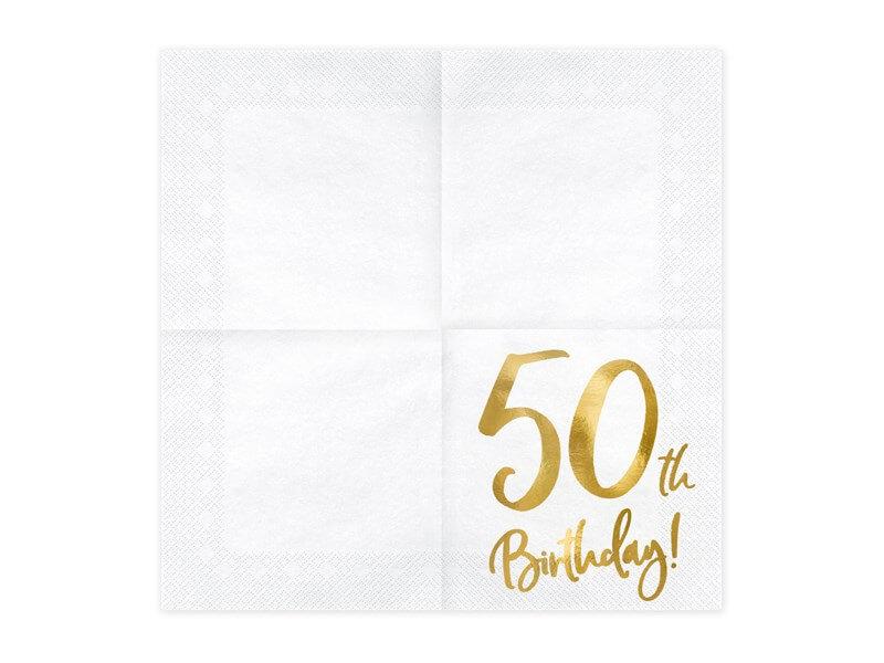 Serviette en papier 50th Birthday (Lot de 20)