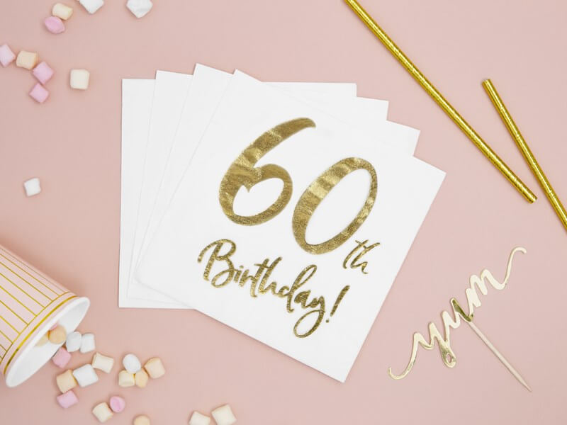 Serviette en papier 60th Birthday (Lot de 20)