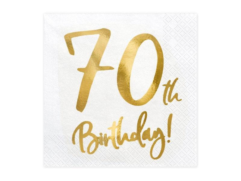 Serviette en papier 70th Birthday (Lot de 20)