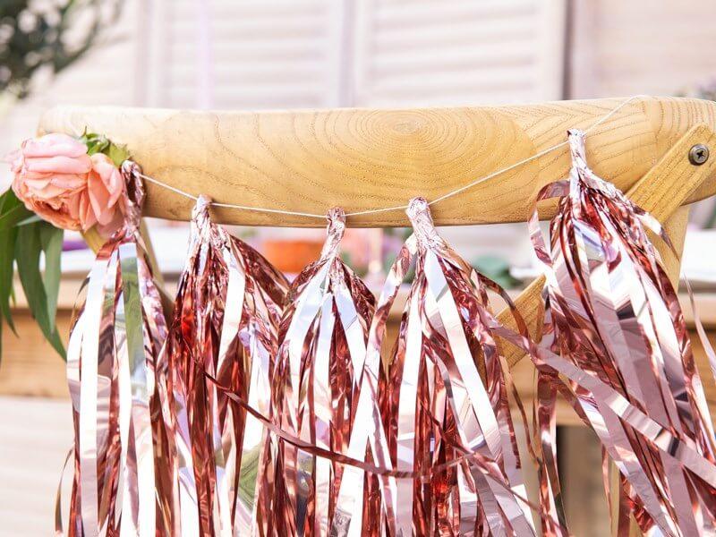 Guirlande tassel rose gold 12 pompons