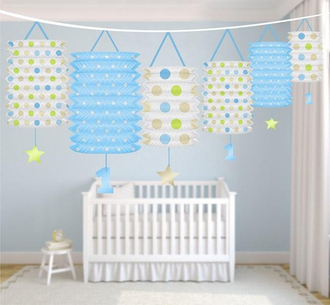Guirlande lanterne bleue anniversaire 1 an