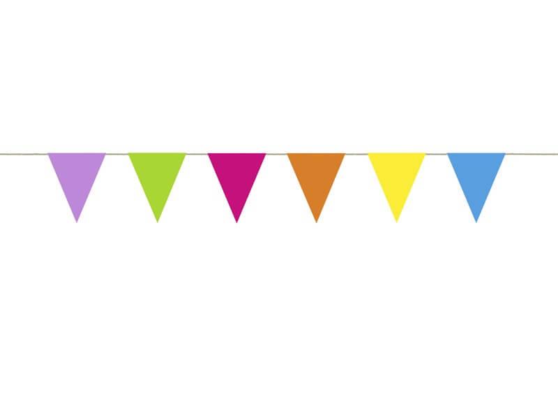 Guirlande en papier multicolore