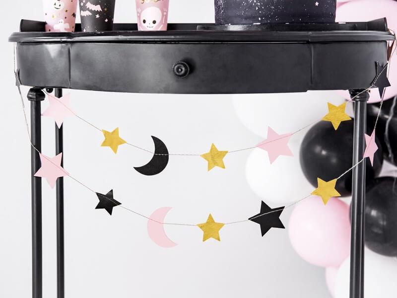 Guirlande en papier avec motifs Lune & Étoile