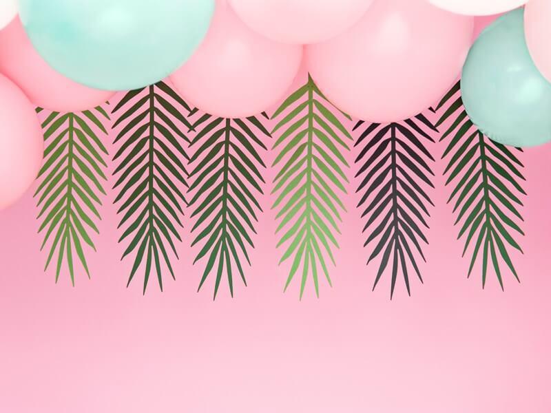 Guirlande en papier en forme de feuille tropicale