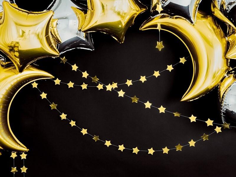 Guirlande en forme d'étoile or métallisé
