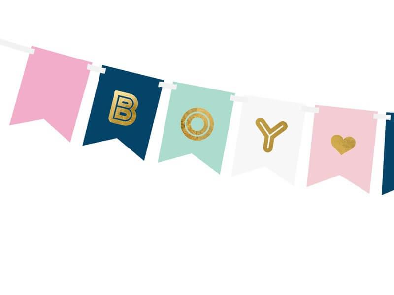 Guirlande en papier Boy or Girl