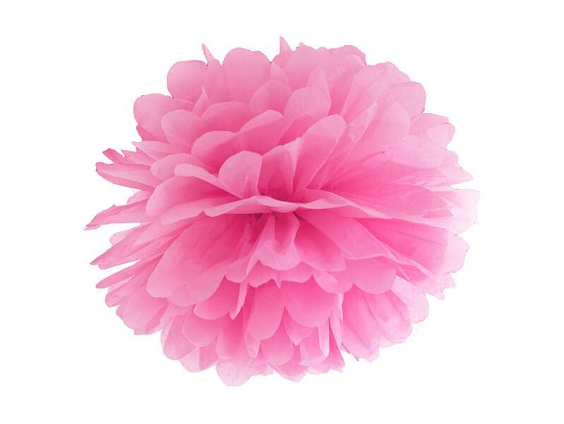 Pompon en papier rose 25cm