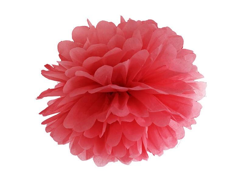 Pompon en papier rouge 25cm
