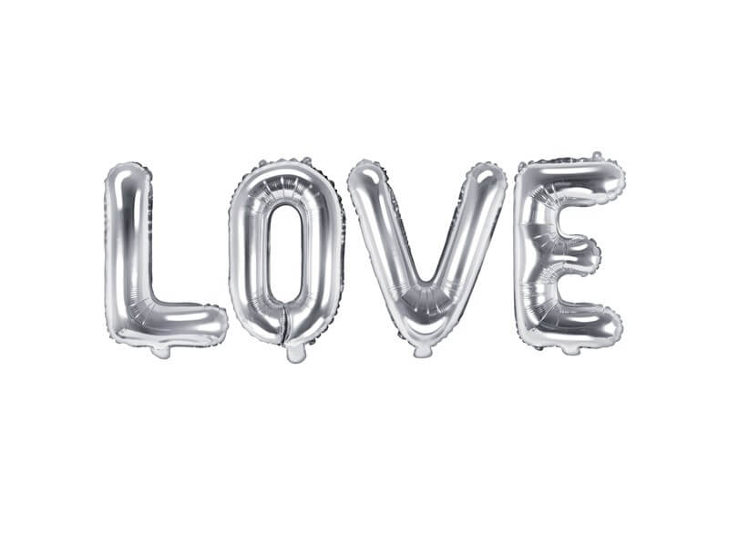 Ballon en Aluminium argent LOVE
