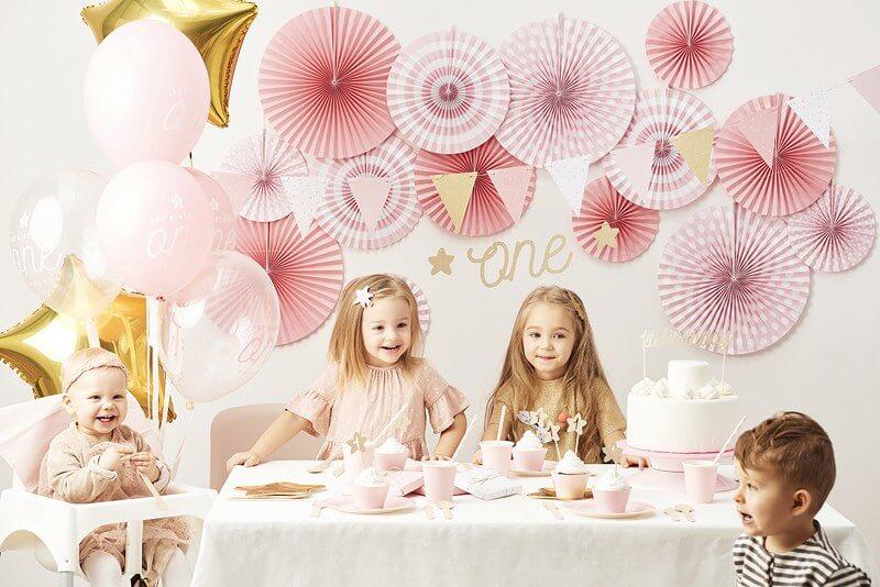 Décoration pour gâteau 1st Birthday or pailleté
