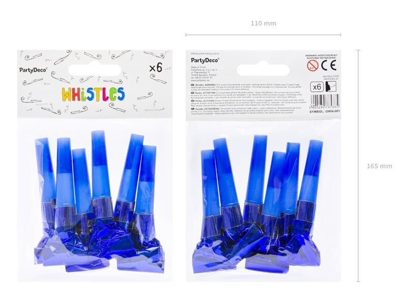 Lot de 6 Sifflets Sans Gêne bleus