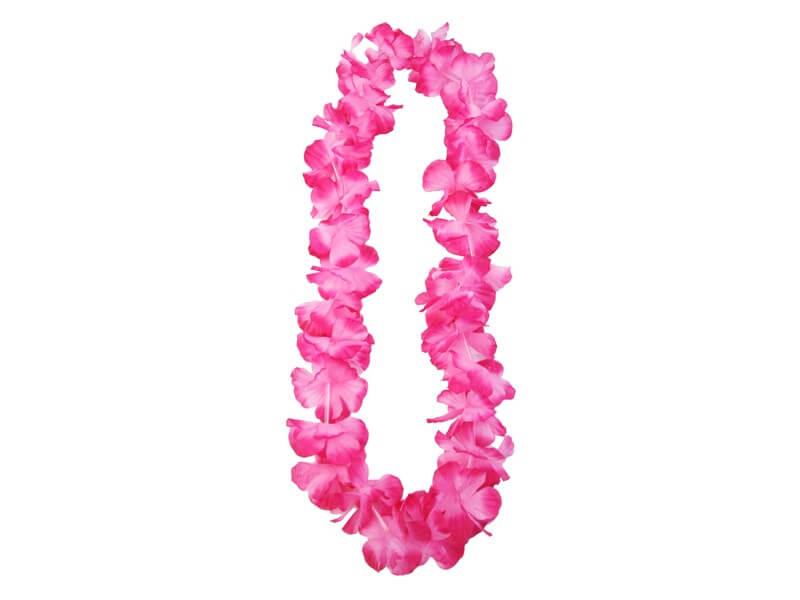 Collier Hawaîen en fleurs rose