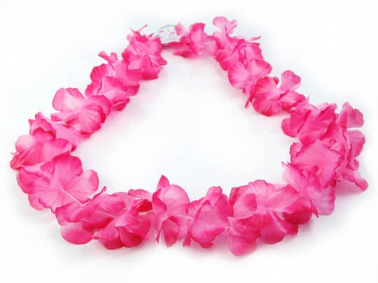 Collier Hawaïen en Fleurs Rose