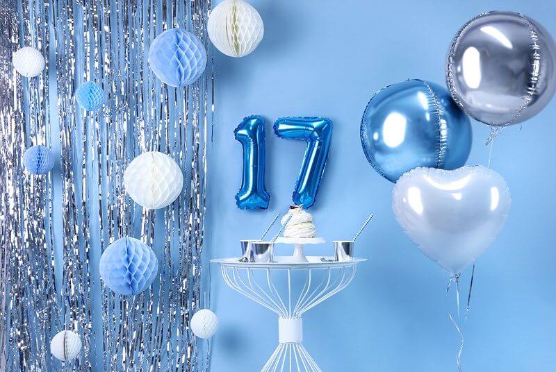 Ballon anniversaire chiffre 7 Bleu 35cm