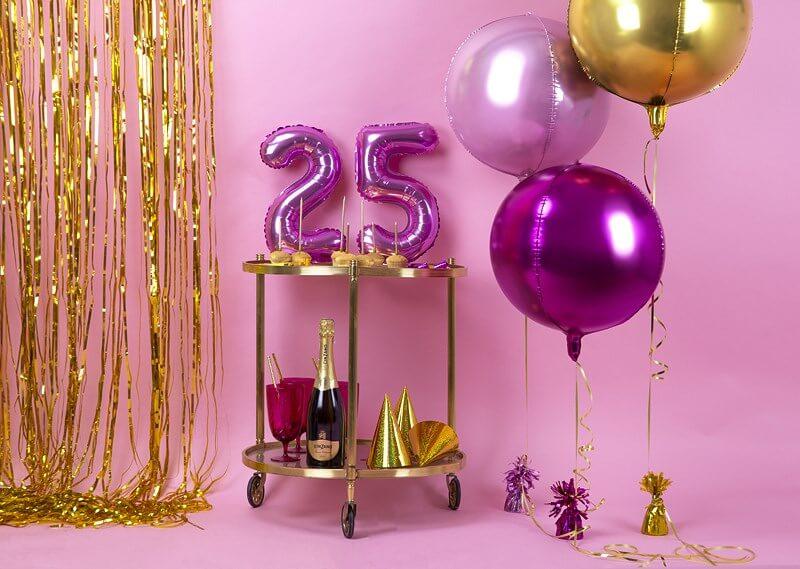 Ballon anniversaire chiffre 2 Rose 35cm