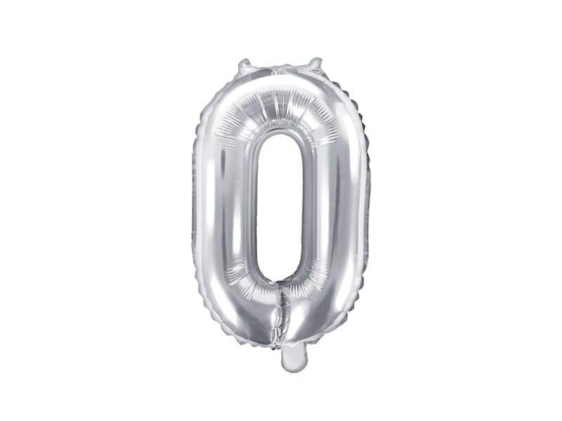 Ballon anniversaire chiffre 0 Argent 35cm